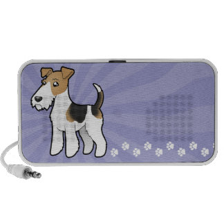Cartoon Wire Fox Terrier iPhone Speakers