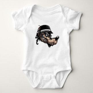 Cartoon Wolf Baby Bodysuit