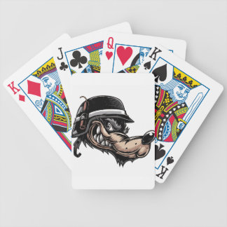 Cartoon Wolf Bicycle Playing Cards