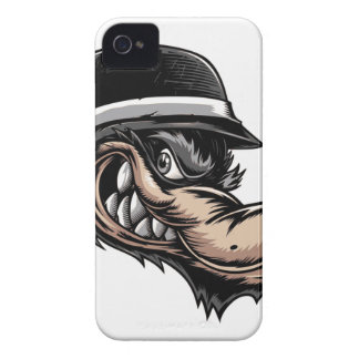 Cartoon Wolf Case-Mate iPhone 4 Cases