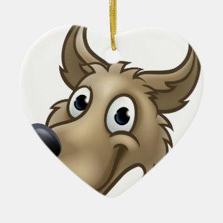 Cartoon Wolf Character Mascot Ceramic Ornament