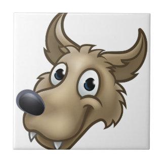 Cartoon Wolf Character Mascot Ceramic Tile