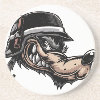 Cartoon Wolf Coaster