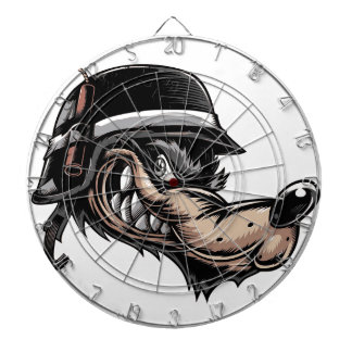 Cartoon Wolf Dartboard