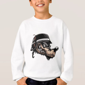 Cartoon Wolf Sweatshirt