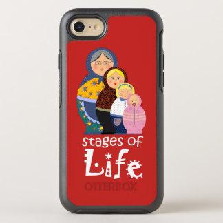 Cartoon Woman Funny Life Time Red Bold Matryoshka OtterBox Symmetry iPhone 8/7 Case