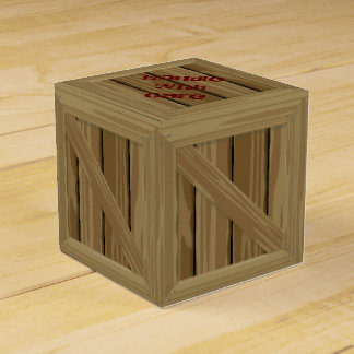 Cartoon Wood Crate Wedding Favour Boxes