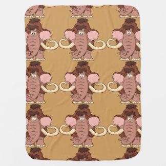 Cartoon Woolly Mammoth Baby Blanket