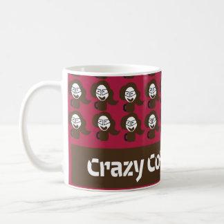 Cartoon writers coffee mugs pattern and text