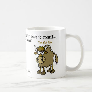 Cartoon yak. Talking too much. Coffee Mug