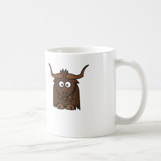 Cartoon Yak - White Coffee Mug