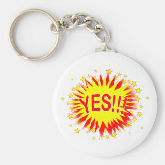 Cartoon Yes Key Ring