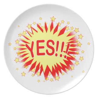 Cartoon Yes Party Plate