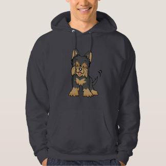 Cartoon Yorkie hoodie