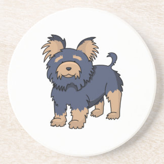 Cartoon Yorkshire Terrier Drink Coasters