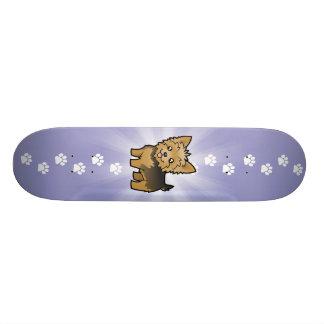 Cartoon Yorkshire Terrier (short hair no bow) 19.7 Cm Skateboard Deck