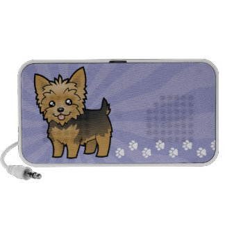 Cartoon Yorkshire Terrier (short hair no bow) Travel Speakers