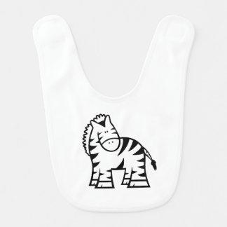 Cartoon Zebra Baby Bib