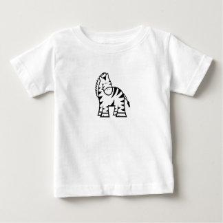 Cartoon Zebra Baby Jersey T-Shirt