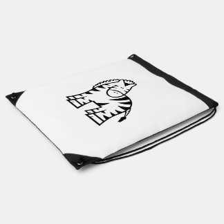 Cartoon Zebra Drawstring Backpack