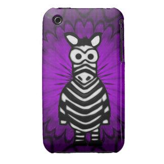 Cartoon Zebra iPhone 3 Cases