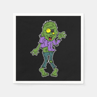 Cartoon Zombie Halloween Party Paper Serviettes