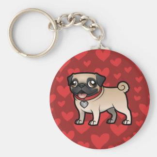 Cartoonize My Pet Basic Round Button Key Ring