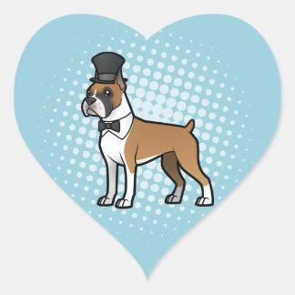 Cartoonize My Pet Heart Sticker