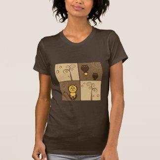 Cartoons Animals Design T-shirts