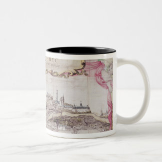 Cartouche of Quebec Two-Tone Coffee Mug