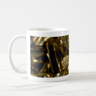 Cartridges, mixed .44 and .357 magnums in random p coffee mug