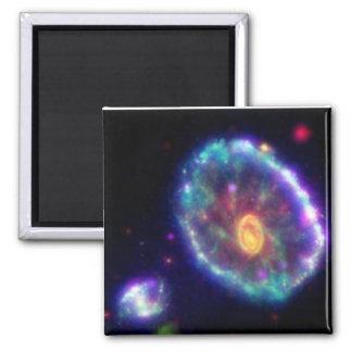 Cartwheel Galaxy Square Magnet