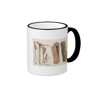 Carved and decorated Aboriginal tools, illustratio Coffee Mugs
