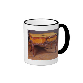 Carved card or games table mugs