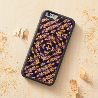 Carved® Cherry Wood Inlay Phone Case - Feathers