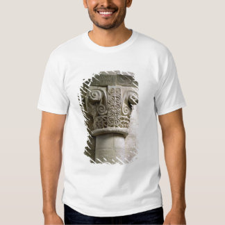 Carved column decorated with croziers and spirals t shirts