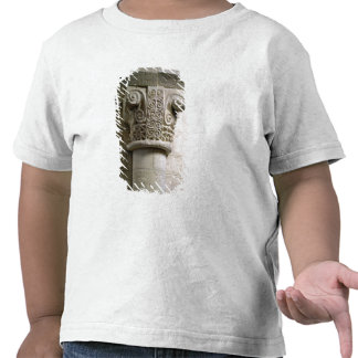 Carved column decorated with croziers and spirals t shirt