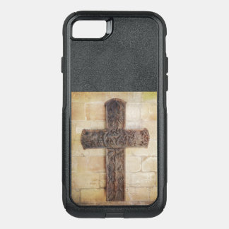 Carved cross OtterBox commuter iPhone 8/7 case