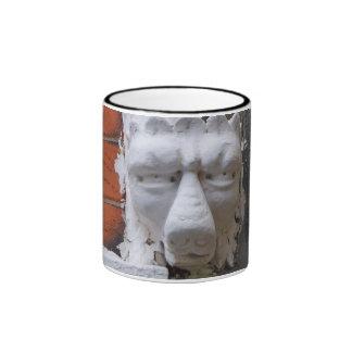 Carved Face Coffee Mug