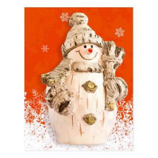 Carved Fig Snowman Postcard