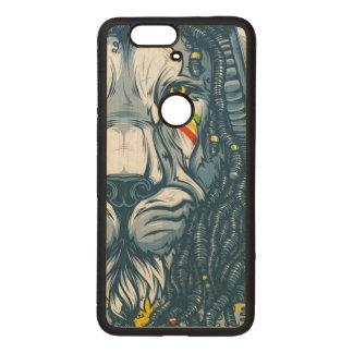 Carved Google Nexus 6p Bumper Wood CASE