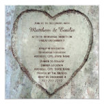 Carved Heart Birch Tree Wedding Rehearsal Dinner 13 Cm X 13 Cm Square Invitation Card