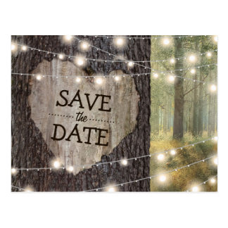 Carved Heart Tree Wedding | Save the Date Postcard