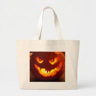 Carved Jack o lantern Canvas Bags