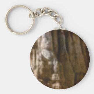 carved muscles in rock key ring