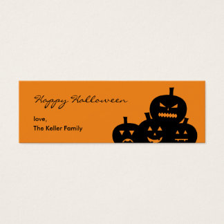 Carved Pumpkins Halloween Gift Tag