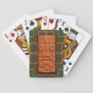 Carved Square Tiki Poker Deck