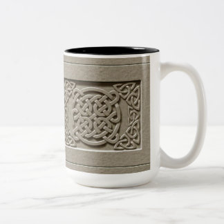 Carved Stone Texture Celtic Knots Mug