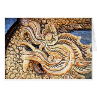 Carved Thai Dragon Card