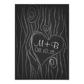carved tree wood black save the date card 13 cm x 18 cm invitation card